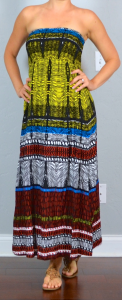 thailand outfit post: tribal maxi dress, browns sandals