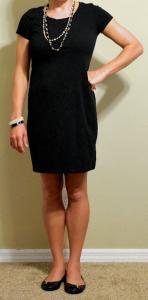 guest post – v: black t-shirt dress, black buckle flats