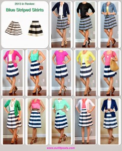 2013 – Outfit Posts: Striped Skirts