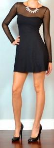 guest outfit post – sister week: black long sleeved skater dress