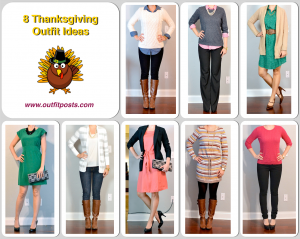 outfit post: 8 thanksgiving outfit ideas