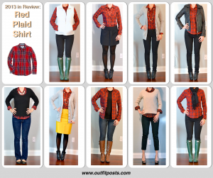 2013 in review – outfit posts: red plaid shirt