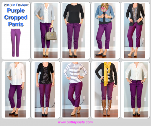 2013 in review – outfit posts: purple cropped pants