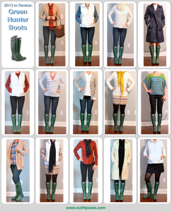 2013 in review – outfit posts: hunter 'wellies' rain boots