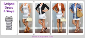outfit post: striped dress 4 ways