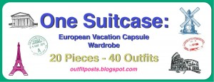(outfits 31-35) one suitcase: european vacation capsule wardrobe