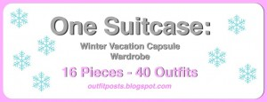 (outfits 31-35) one suitcase: winter vacation capsule wardrobe