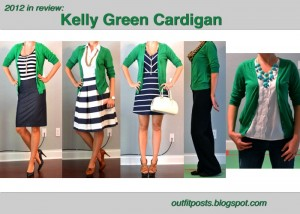 2012 in review – outfit posts: kelly green cardigan