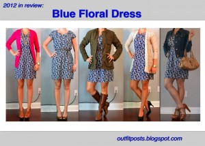 2012 in review – outfit posts: blue floral dress