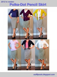 2012 in review – outfit posts: polka dot pencil skirt