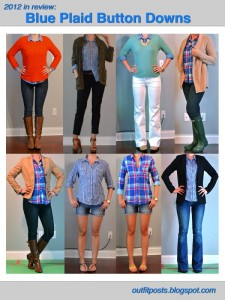 2012 in review – outfit posts: blue plaid button down