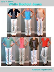 2012 in review – outfit posts: white bootcut jeans