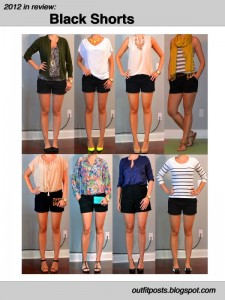 2012 in review – outfit posts: black shorts