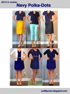 2012 in review – outfit posts: navy polka-dots