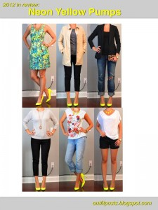 2012 in review – outfit posts: neon yellow pumps