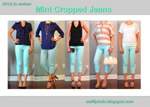 2012 in review – outfit posts: mint cropped jeans