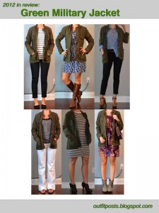 2012 in review – outfit posts: green military jacket