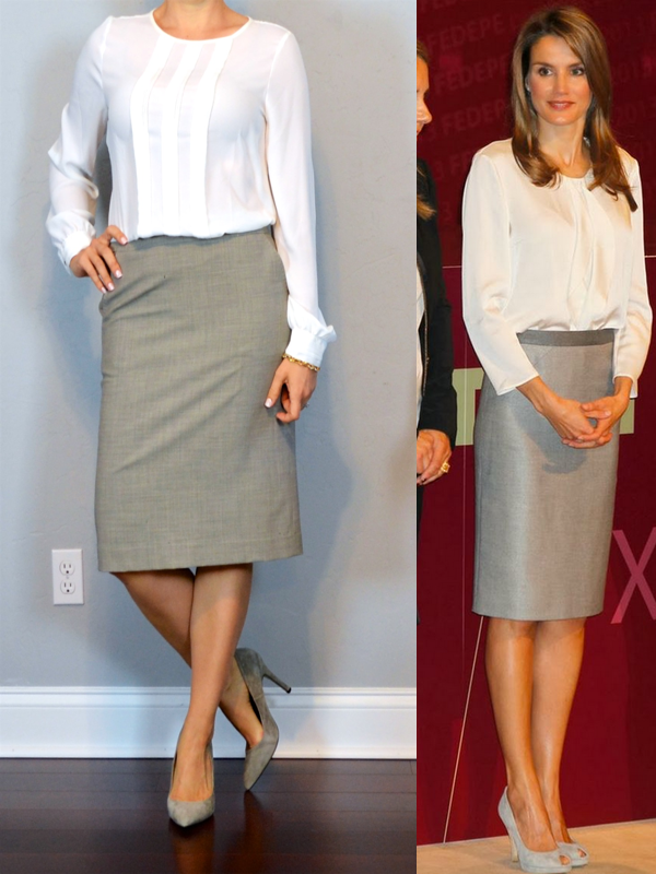 White Blouse For Pencil Skirt 21