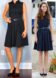 outfit post: black shirt dress, black wedges