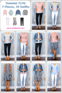 outfit post: 7 pieces, 10 outfits – summer!