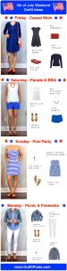 outfit post: four festive outfits for 4th of July weekend