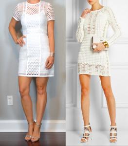 outfit post – las vegas: white cutout mini dress, silver heels