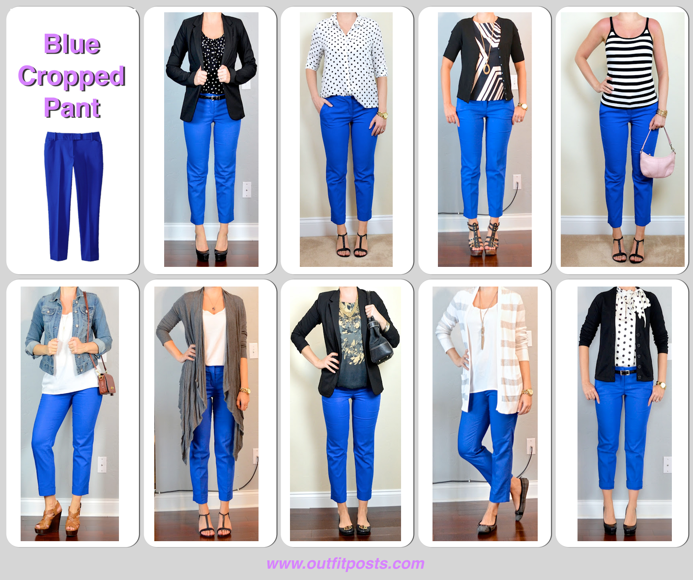 9 Blue Cropped Pant 2