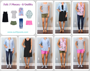 outfit post: 7 pieces, 8 outfits – Summer Casual