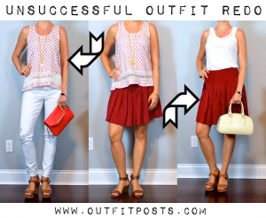 outfit post: unsuccessful outfit redo