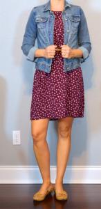 burgundydressjeanjacket