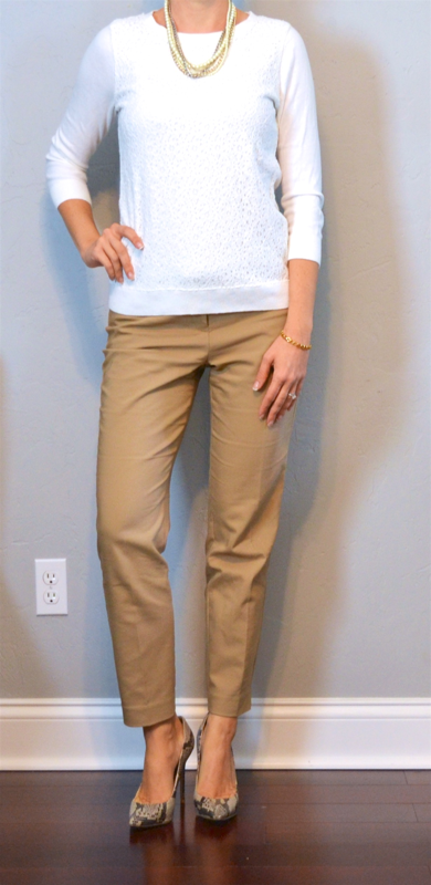 beigepantswhitesweater