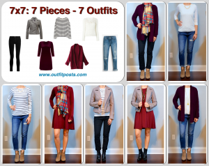 outfit post: 7×7 (7 pieces = 7 outfits)
