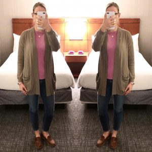 outfit post: quick work trip
