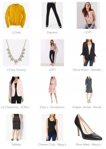 outfit posts: most popular shopping clicks