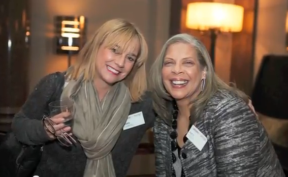 Over My Shoulder Foundation Co-Founders Dawn Carroll (left) and Patti Austin (right) at the 2013 Leaders of Design Council Conference in Berlin, Germany