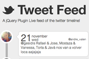 jQuery Tweet Feed Plugin