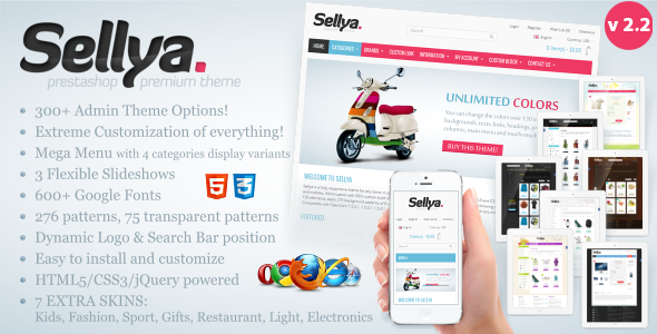 Sellya Responsive Prestashop Theme