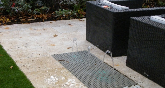 There is a safe, but fun water feature!