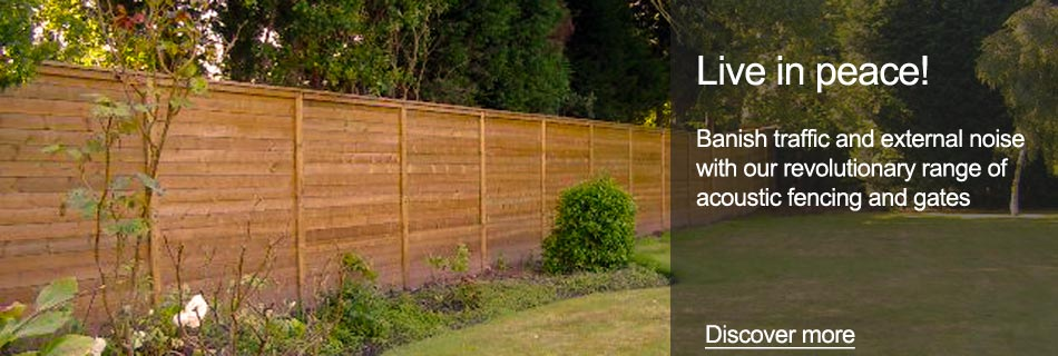 Banish traffic and external noise with our revolutionary range of acoustic fencing and gates