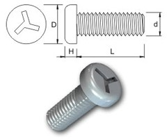 TR Security Machine Screws Type 3 Pan Head