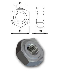 Weld nuts - Hexagon