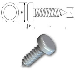 TR Security Self Tapping Screws Type 1 - Pan Head
