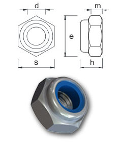 Nylon insert nuts - Type T - Thin