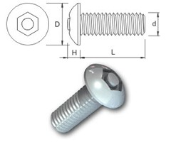 TR Security Machine Screws Type 7 Button Head
