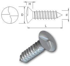 TR Security Self Tapping Screws Type 6 Countersunk Head