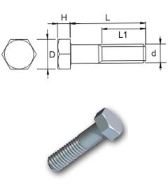 Metric High Tensile Hexagon Bolts