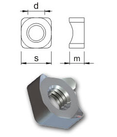 Weld nuts - Square