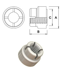 Wun-Loc® locking nut - Weld version