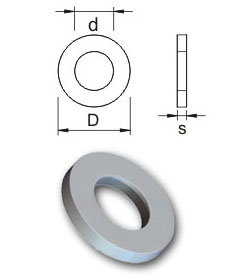 Metric washers - Form A