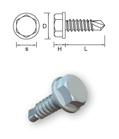 Washer Hexagon Self-Drilling screws – Form K